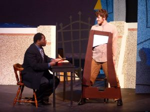 MAKING THE CUT, presented as part of LOSING OUR HEADS: THE GUILLOTINE PLAY produced by Harlequin Productions at Cayuga Community College in Auburn, NY. March 2015. (dir. Robert Frame.)